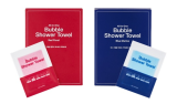 Bubble Shower Towel _JOY BUBBLE_ _Red Floral___Blue Marine_